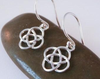sterling silver celtic earrings, sterling silver irish earrings, celtic earrings, knot earrings, irish earrings, celtic knot earrings