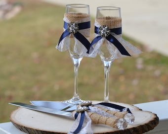 Rustic cake knife burlap and lace wedding cake serving set shabby chic cake knife and mr and mrs glasses nautical wedding cake serving set burlap junglespirit Image collections