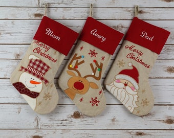 PERSONALIZED Stocking, Christmas stocking, stocking, christmas, monogrammed, monogram, embroidered, personalized christmas stocking, family