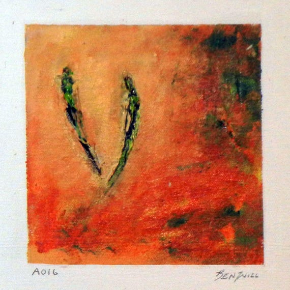 Daily Painting  A016 Small Abstract Study Painting by BenWill