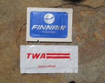Vintage 1970s Airline Toiletries // TWA // Finnair // In Flight Amenity
