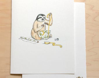 Belated Birthday Card Sloth