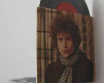 Record Album Bob Dylan Blonde On Blonde - dollhouse miniature 1:12 scale