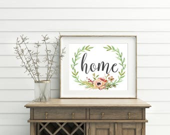 Home Sign, printable, home print, home printable, home wall art, home wall decor, home decor, print wall art, print art, prints wall art