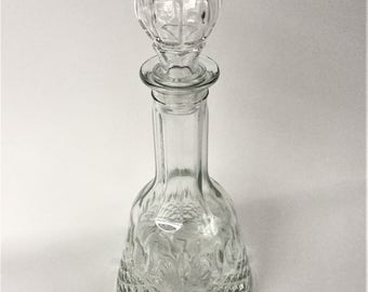 Beautiful Mid Century Vintage Glass Decanter