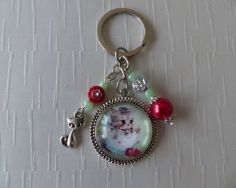 Keychain cat cup shabby