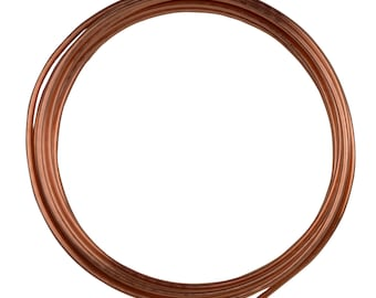 10' Round Dead Soft Copper Wire 10 Gauge Jewelry Making Craft Wire - WIR-650.10