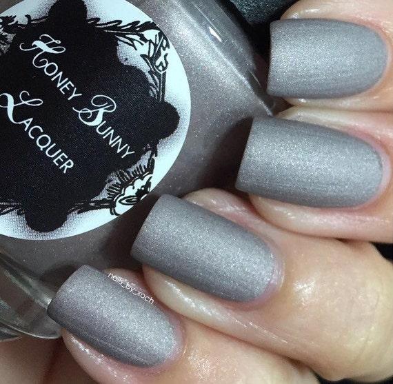 Dove Gray Nail Polish: Rearviewmirror Matte Nail Polish Matte Gray 5 Free