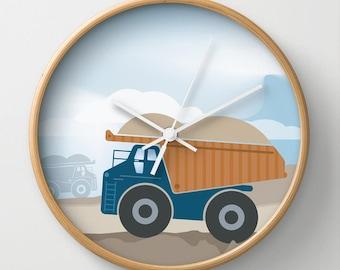 Full Color Dump Truck Wall Clock 10 inch Diameter