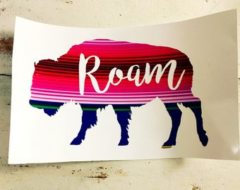 Bison Stickers Etsy - Custom vinyl decals buffalo ny