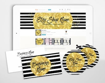 Branding Package - Etsy Shop Covers - Gold Shop Cover - Branding Package Etsy Covers - Advance Startup With - Geometric 7-16
