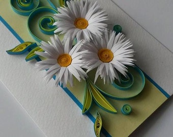 Mother's Day card - Quilling card - Mother's Day - Quilling flowers design - Birthday Card