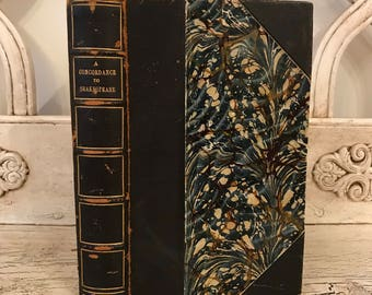 A Concordance to Shakespeare - 1787  - Antique Shakespeare Book - Uses the Long S