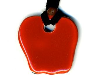 Apple Ceramic Necklace
