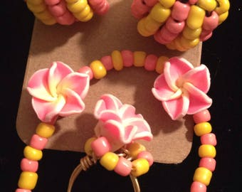 COTTON CANDY - Beaded jewelry set