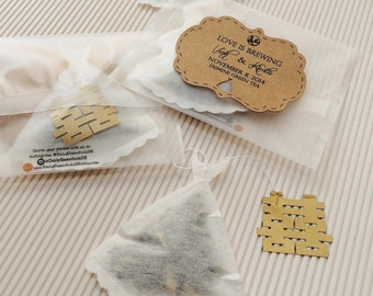 Double Happiness Custom Tea Label and Tea bags - Tea leaves included