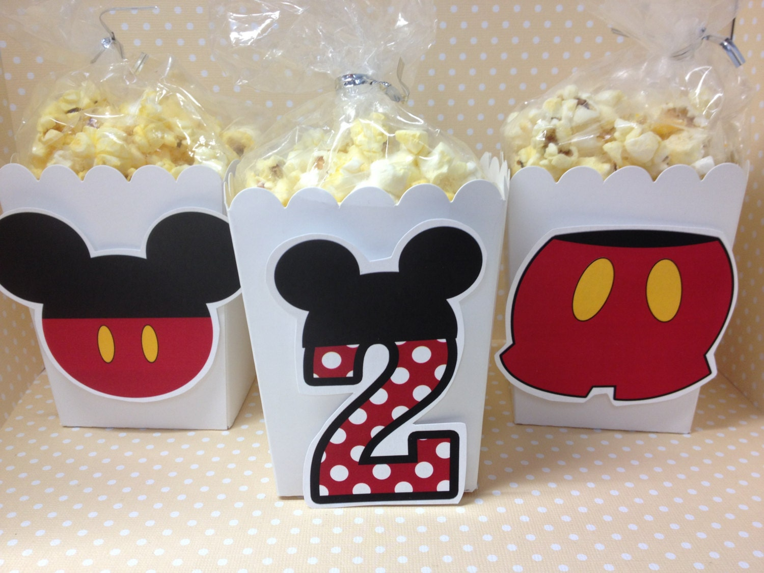 Mickey Mouse Party Popcorn Or Favor Boxes Set Of 10