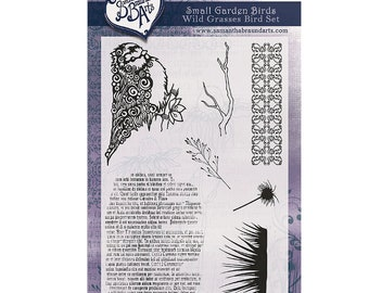 Wild Grasses Stamp Set/ As Seen On TV/A6/Photopolymer
