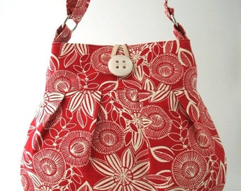 canvas tote bag, canvas purse, red handbag, womens messenger bag, red shoulder bag, diaper bag, red crossbody purse, ready to ship