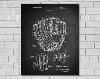 Baseball Glove Patent Print - Baseball Gifts - Baseball Patent - Baseball Art -Baseball Decor - Baseball Glove - Vintage Baseball Art SB036