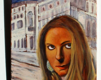 Girl from Trieste - girl portrait - oil painting on canvas - original artwork - free shipping in UE