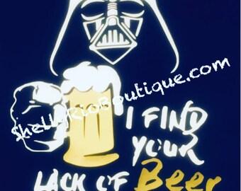 Men's Beer Shirt, Men's Darth Vader Shirt