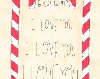 """Elf """"I LOVE YOU"""" Greeting Card"""
