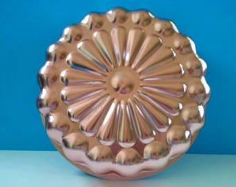 Vintage Copper Jello Mold, Flower Design, Wall Art, Retro Jello Mold, Copper, Flower, Vintage.