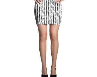 Beautiful Vine Pattern Mini Skirt