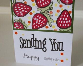 Bright, Cheerful Happy Birthday Card - Handmade