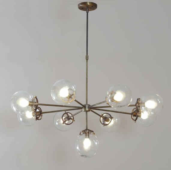 Modernist chandelier glass balls ceiling light pendant lamp like this item mozeypictures Image collections