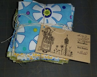 FOUR inch Mixed Fabric Squares