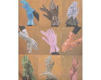 Uncut Vogue Accessories Pattern 7949 v7949 - 9 Styles of Unlined Gloves - Gauntlet/ Buckles/ Evening Glove/ Stretch Gloves/ Bow/ Gathered