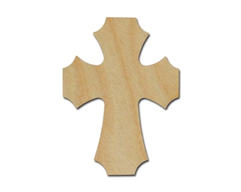 Unfinished Wood Cross Paintable Stainable Craft Crosses Cut Out part MC15-150  15 Inch Tall
