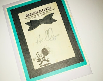 Hello Card With Bow