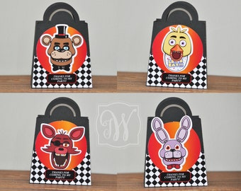 Five Nights at Freddy's  favor bags, Treat Box, SET of 6
