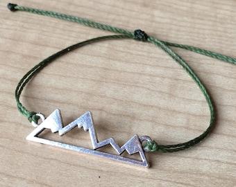 Custom Waterproof Mountain Bracelet - Made to Order - Custom Bracelet - Unisex