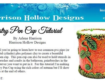 Tapestry Pen Cup Tutorial PCT0002-15