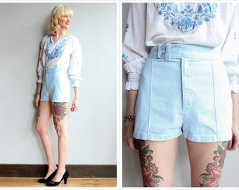 1970s Shorts // Time & Place Shorts // vintage 70s cotton shorts
