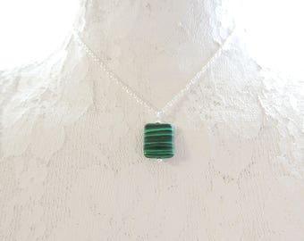 Malachite Boho Necklace, Long Necklace, Pendant Necklace, Gemstone Necklace, Layering Necklace, Mineral Necklace
