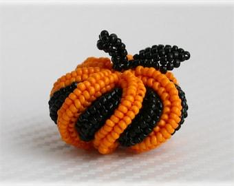 Halloween pumpkin beading TUTORIAL