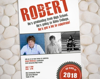 Sealed - Graduation announcement and party invitation, class of 2018