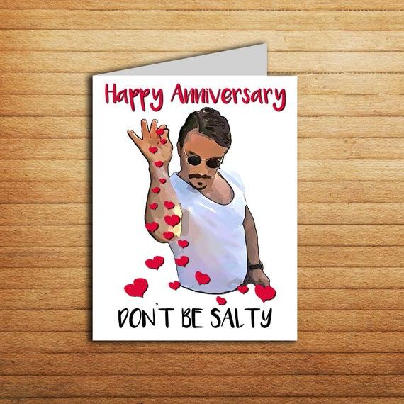 Salt Bae Love Card Printable Funny Anniversary Card For