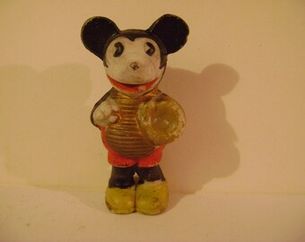 1930s Bisque Mickey Mouse Baseball Player