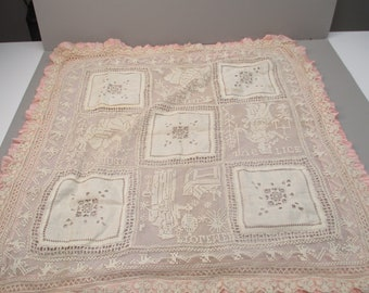 Antique Victorian Baby Coverlet