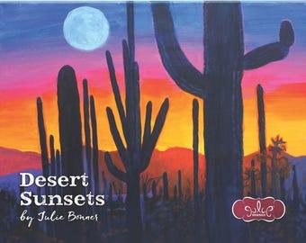 2018 Wall Calendar, Desert Sunsets by Artist Julie Bonner