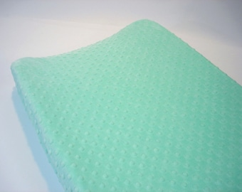 Mint Opal Changing Pad Cover