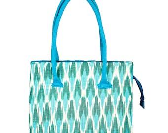 Sutlej Bag - Ikat and Jute purse BG-IJ2