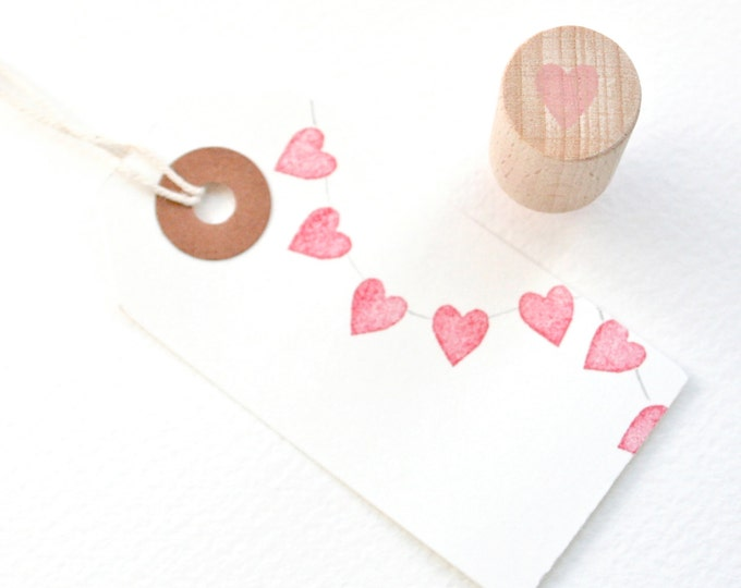 Tiny Heart - Rubber Stamp - Heart Stamp - Wedding Invitations - Wedding Favours - Wedding Stamp - Stamp - Hand Carved - Weddings - Valentine