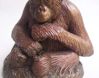 Orangutan Sculpture The Little Thinker